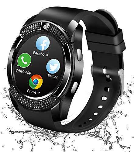 4b6454110 Bluetooth Smart Watch With Camera SIM Card Slot Smartwatch Touch Screen  Unlocked Cell Phone Watch Whatsapp