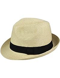 Veroda Unisex Fedora Gánster gorra paja verano playa sombrero
