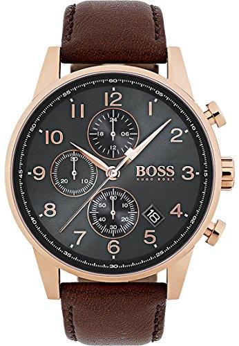 BOSS Boss Herren-Uhren Analog Quarz Leder 32000893