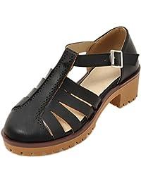 Coolcept Mujer Cerrado Sandalias Hebilla  Zapatos de moda en línea Obtenga el mejor descuento de venta caliente-Descuento más grande