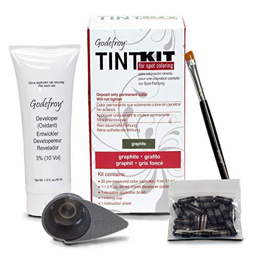 Godefroy TintKit for spot coloring, Augenbrauen,Bart- Färbeset für Profis, graphit, 1er Pack (1 x...