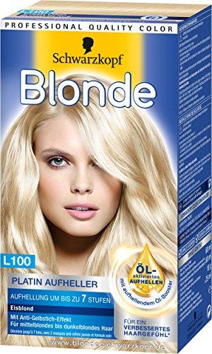 Blonde L100 Platin Aufheller Eisblond, 3er Pack (3 x 180 ml)