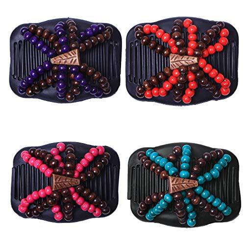 Baoblaze 4pcs Peigne Magique Pince à Cheveux Pour Femmes