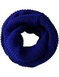 niceeshop(TM) Soft Comfortable Warm Wool Knit Infinity Scarves Circle Loose Loop Scarf Wrap For Women-Dark Blue