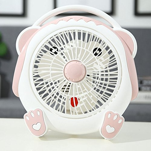 LIZHONGXUAN Sommer Fan Home Energiesparventilator Fan Studentenwohnheim Schreibtisch Fan Mini Fan,Pink