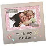 Me and My Auntie Photo Frame Brushed Aluminium Juliana Collection