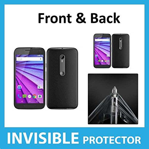 Motorola Moto G 3. Gen. (2015) Full Body Invisible Displayschutzfolie (Vorderseite & Rückseite enthalten) Military Grade Schutz Exklusiv von Ace Fall Gen Invisibleshield