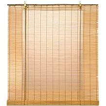 Estores Basic-  Enrollable Bambú Natural,  Miel, 120x170 cm