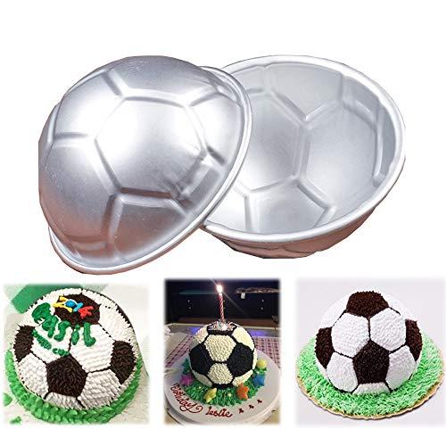 Zoll Antihaft Mini Fun Fußball Kuchen Backform Kuchen Backform, 9cm x 4.5cm ()