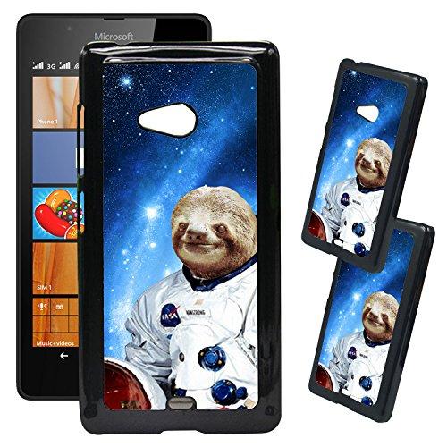 [teleskins]-Designer Kunststoff Schutzhülle für Microsoft Lumia 540-Hipster Astronaut Faultier-Ultra Durable Hard Plastic Schutzhülle Zum Aufstecken Rückseite/Cover für Microsoft Lumia 540.