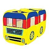 ADATEN Tente de Jeu Playhouse Dessin animé Double Bus Camion Game House Tunnel Château de Ball Pool Pop Up Portable Pliant Wigwam Tente 2-3 Personnes Jouer,C