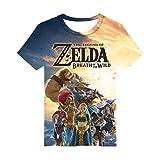 CTOOO 3D T Shirts Légende de Zelda Col Rod Homme XXS-3XL