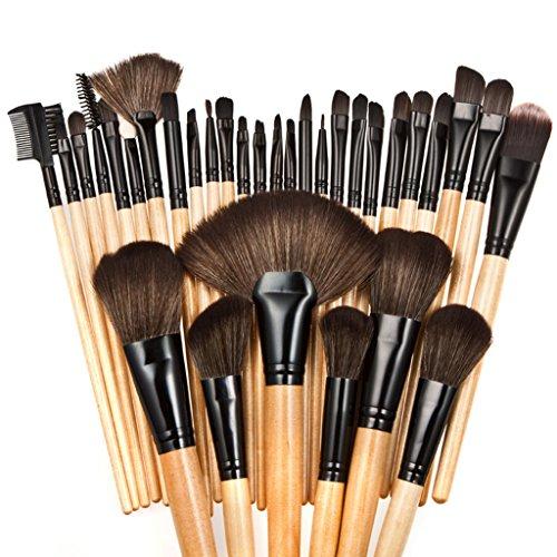 LianLe®32PCS Pinceaux de Maquillage Pro pour Femme Set Accessoires Cosmétique Kit Soirée