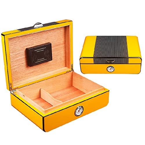 xuejiahe01 Zigarrenschachtel,Geschlossene Dichtung Feuchtigkeitsspendende Zigarre,Große Kapazität,Platz für 30 Zigarren -