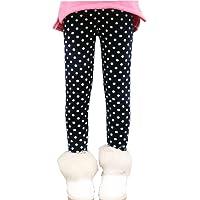 Uncle Lee Bambini Ragazze Leggings in Foderati Pantaloni Invernali Lunghi Spessi Stretch Pantalone, Motivo Floreale…