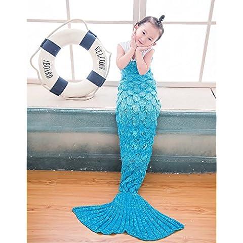 Minetom Mermaid Blankets Cola De Sirena Mantas Sacos De Dormir Todas Las Temporadas Sleeping Bags Azul Cielo 140 x 70