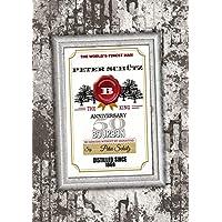 50. Geburtstag: Personalierbares Geschenk für Jahrgang 1968 |1978 | 1988 - Bild als Geburtstagsgeschenk zum 20, 30, oder 40 Jahre auf DinA4 | Motiv: Whisky (Jim Beam)