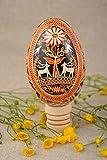 Huevo de Pascua de ganso amuleto para casa decoracon artesanal bonito