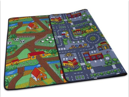 HEVO Duo Play Teppich | Kinderteppich | Spielteppich Wendeteppich 135x200 cm