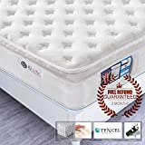 4FT6 Double Pocket Sprung Mattress with Tencel Fabric - Multi-Functional 9-Zone Orthopaedic Mattress with Memory Foam - 10.6-Inch Deep - More Sizes Available: 2FT6 Small Single / 3FT Single / 4FT small Double / 5FT UK King Size / 6FT Super King Size