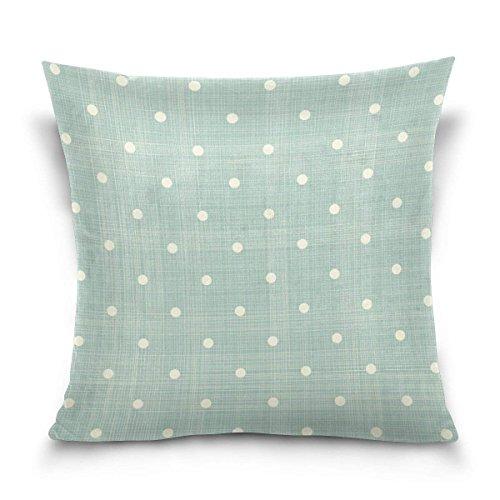 pants hats Retro Green Stripe with Polka Dot Square Throw Pillow Case Cotton Velvet Cushion Cover 18