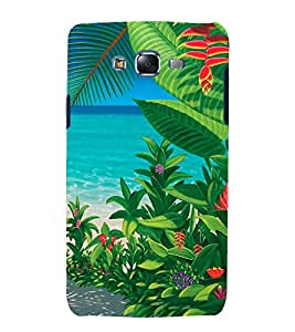 printtech Nature Beach Leaves Back Case Cover for Samsung Galaxy A5 / Samsung Galaxy A5 A500F