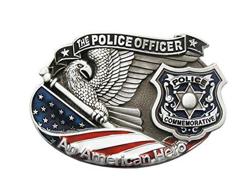 a544969a8feb13 Gürtelschnalle Polizei Police Officer 3D Optik für Wechselgürtel Gürtel  Schnalle Buckle Modell 43 - Schnalle123