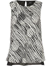 Roman Originals Femme Top à Rayures Géométrique Tailles 38-50 Noir