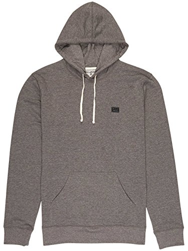 G.S.M. Europe - Billabong Herren All Day Pullover Kapuzenpulli Dark Grey Heath