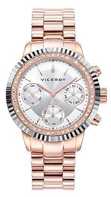 Viceroy Reloj Multiesfera para Mujer de Cuarzo con Correa en Acero Inoxidable 471068-17 de Viceroy