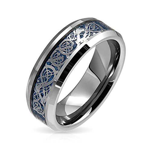 Bling Jewelry Blue Dragon Nudo Celta Inlay Banda...