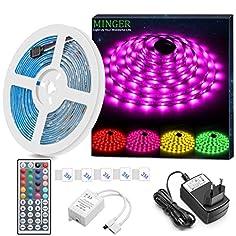 Minger RGB LED Strip Set...