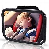 bestbeans Baby Rück Spiegel XXXL | drehbarer,bruchsicher,sicherheit Spiegel im Auto für Babyschale, Kinder & Baby-Sitz mit extra großem Sichtfeld