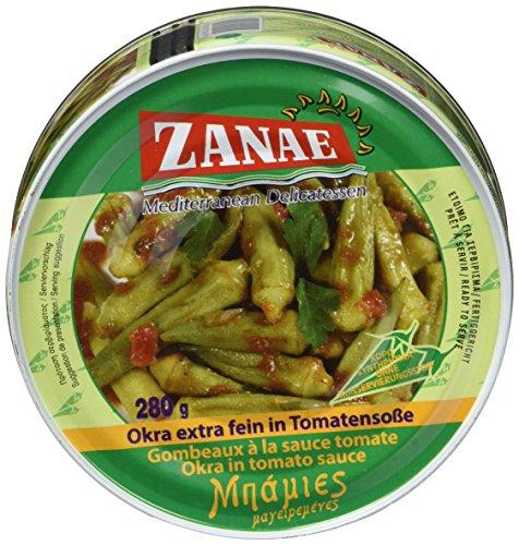 Zanae Okra, extra fein, in Öl , 2er Pack (2 x 280 g Packung)