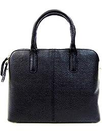 4288c0d47d Handbag Bliss Designer Inspired Italian Grained Leather Top Handle Handbag  Shoulder Bag