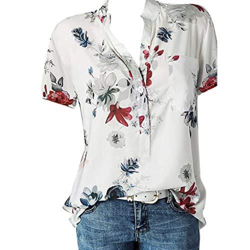 XuxMim Schlinge Oberteile Tops Frauen, Mode Beiläufig Weste/Elegante Damen Sommer Rundhals T-Shirt Einfarbig Ärmellos Tanktops mit Bandagen(Weiß-1,Large) -