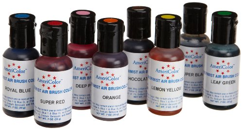 Airbrush 8 Farben-Set AmeriColor AmeriMist (8x19ml) -