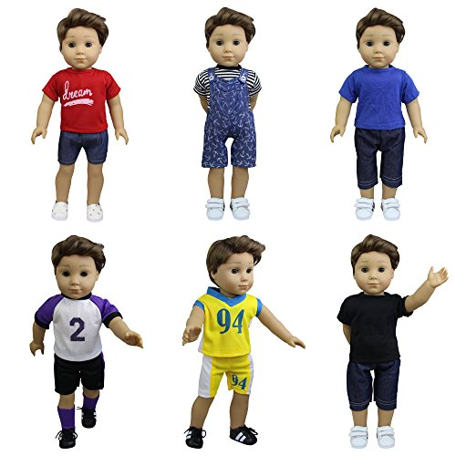 ommer Puppenkleidung für 43-46cm Puppen Babypuppe Täglichen Kleidung Freizeitkleidung Urlaub Outfits Sport ()