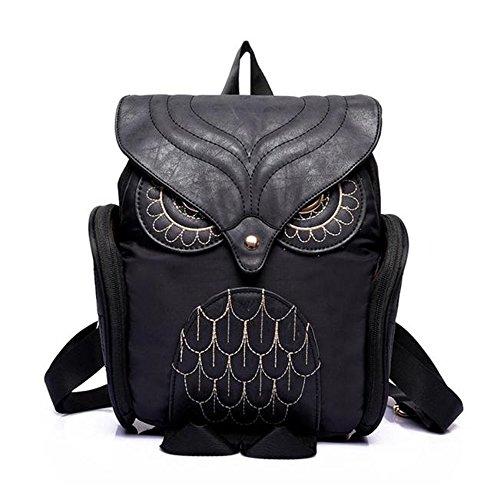 femmes-femmes-leather-owl-backpack-sac-decole-mochila-escolar-pour-filles-noir