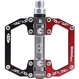 Inmold Aluminium CNC Bearing Fahrrad Pedal für Rennrad/Fixed Gear Fahrrad/Mountain Bike MTB Black Red Mixed