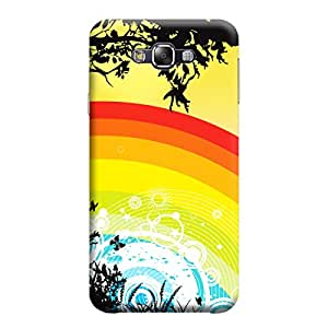 Desicase Samsung E5 Rainbow Art 3D Matte Finishing Printed Designer Hard Back Case Cover (Multicolor)