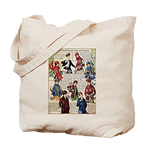 CafePress–1910s Winter Schals–Leinwand Natur Tasche, Reinigungstuch Einkaufstasche S (Edwardian Damen Kostüme)