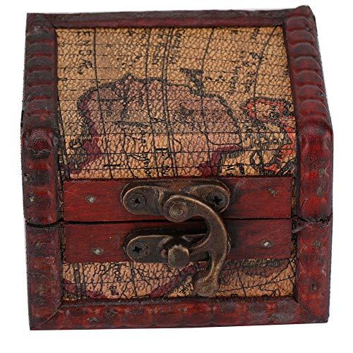 Holz Schmuck Vitrine (Vintage Holzkiste, Platz Schmuck Aufbewahrungsbox handgefertigt aus Holz dekorative Vitrine Schmuckschatulle handgefertigt)