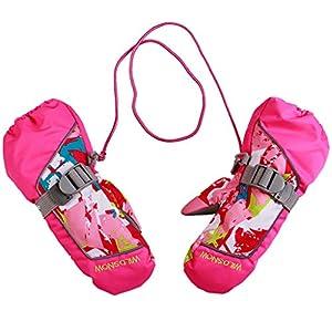 Gogokids Kinder Winter Ski Handschuhe Jungen Mädchen Warm Schnee Fäustlinge Wasserdicht für Winter Outdoor Sports Skifahren, Radfahren und Snowboard 2-4 Jahre
