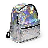 Mädchen Rucksack, Zicac Damen Schulrucksack Schultasche für Teenager mit Laser Silber Daypack Backpack für Schul/Reisen /Outdoor Sport