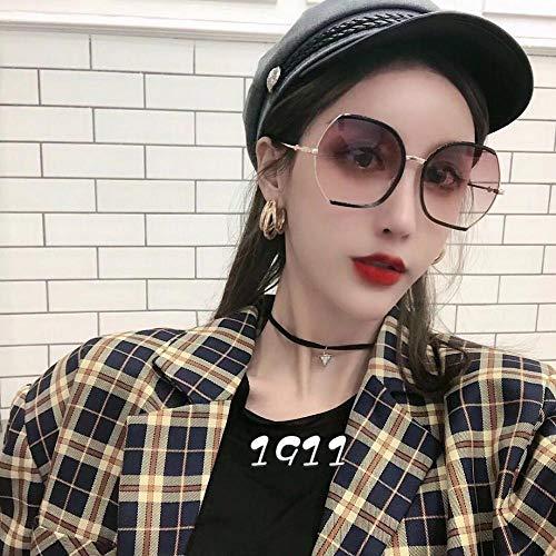 Sonnenbrille Trend Sonnenbrille UV-Schutz Sonnenschirm Sonnenbrille weiblichen Big-Box-Fahrer Fahren Trend Mode rundes Gesicht mirror-1