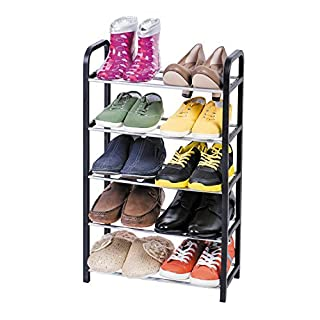 ArtMoon Labrador Shoe Rack 5 Tier Reliable Plastic 42X19X70 cm