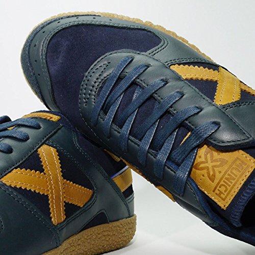 Sneaker Uomo Munich Mod.goal A / I 2017-2018 Mainapps Marino / Cuero