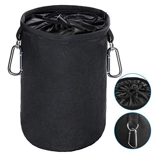 cesto pinzas ropa impermeable, con 2 Clips para Colgar y Mantener Las Pinzas limpias y secas para Uso en Interiores y Exteriores, Organizador de Almacenamiento
