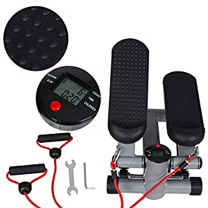 ZOKEO Swing Stepper Hometrainer Stepper mit kabellosem Trainingscomputer –up-Down-Stepper für Einsteiger und Trainierte